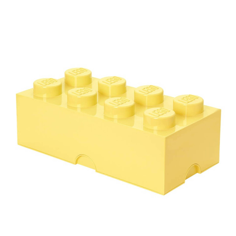 Lego 4004 storage brick 2x4 geel groen