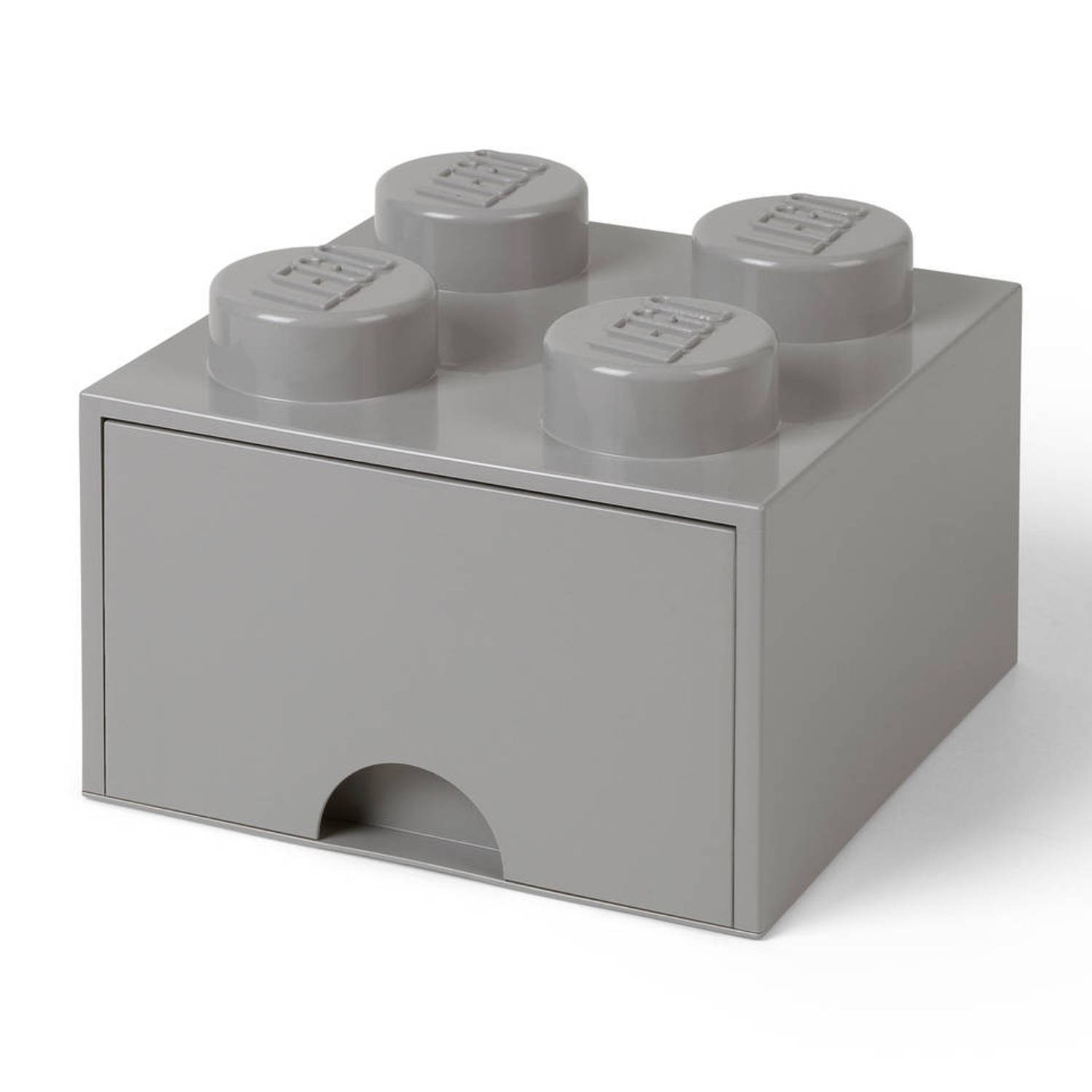 Korting Lego Brick 4 Opberglade Medium Stone Grey