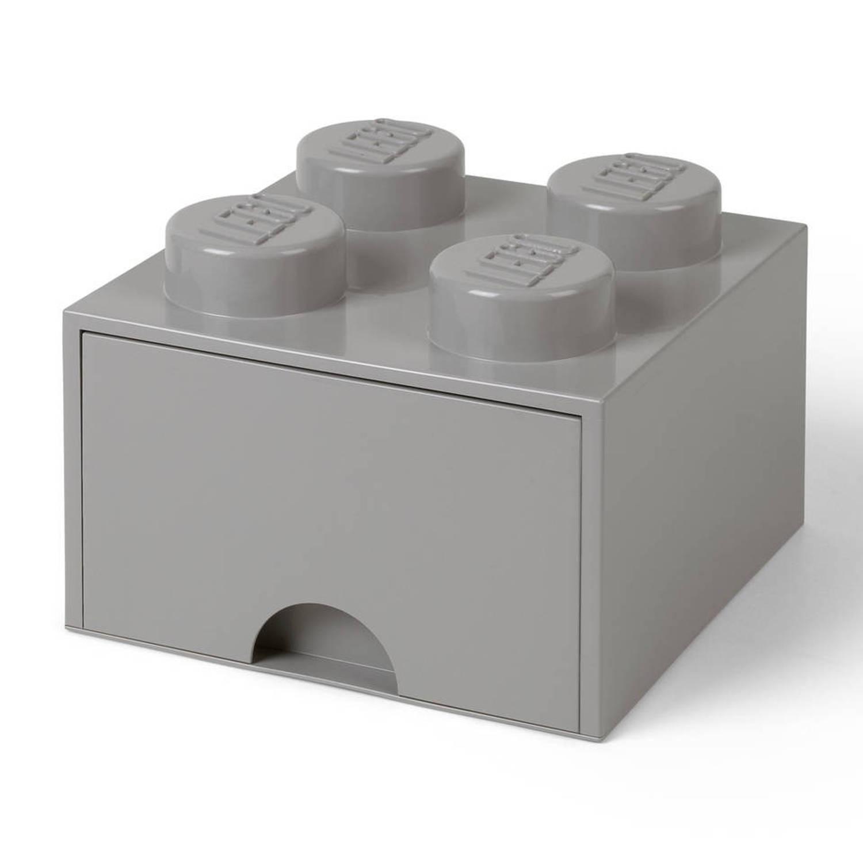 Opberglade Lego DESIGN: brick 4 grijs STONE