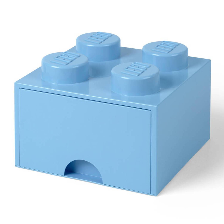 Lego 4003 storage brick opberglade 2x2 lichtblauw