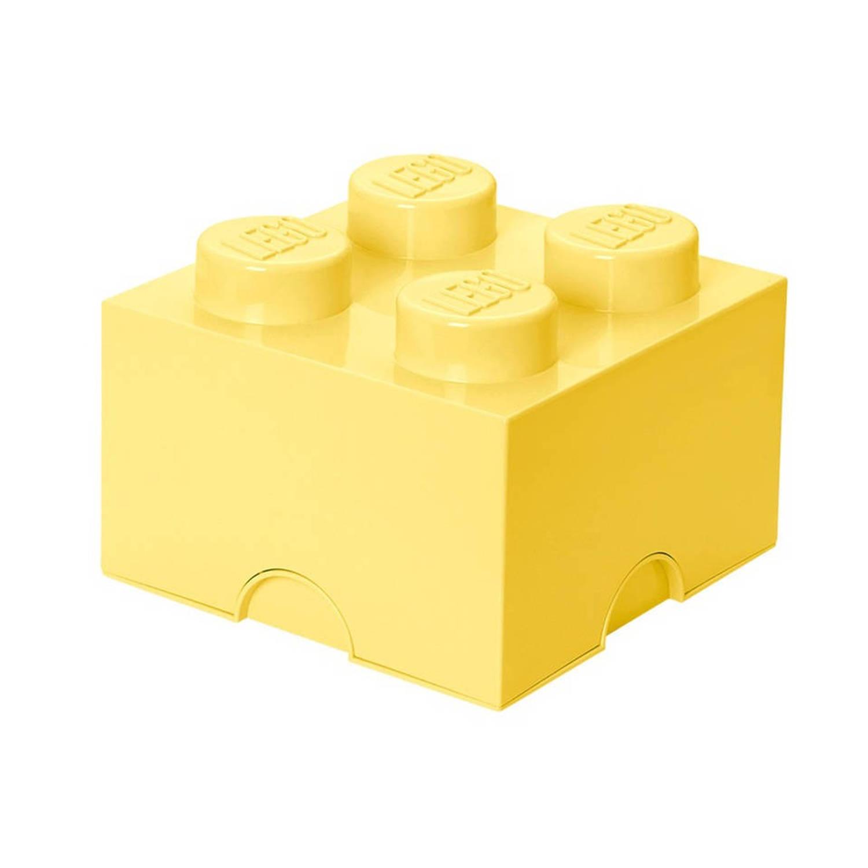 Lego 4003 storage brick 2x2 geel groen