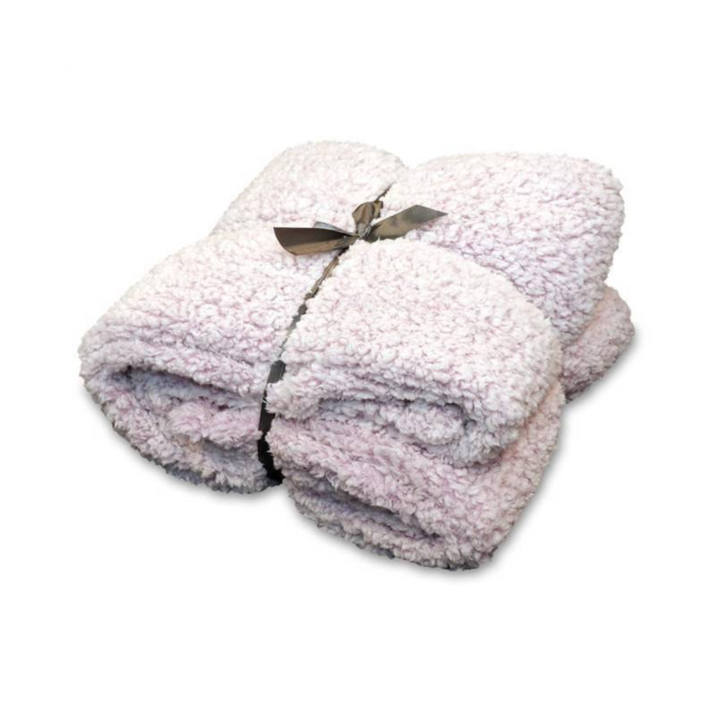 Unique Living Knut fleece plaid - 100% polyester, Fleece polyester - 150x200 cm - Roze, Old Pink