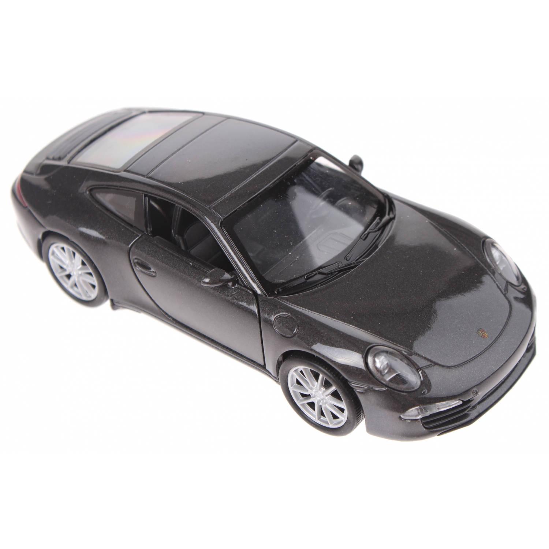Korting Welly Schaalmodel Porsche 911 Carrera S Antraciet