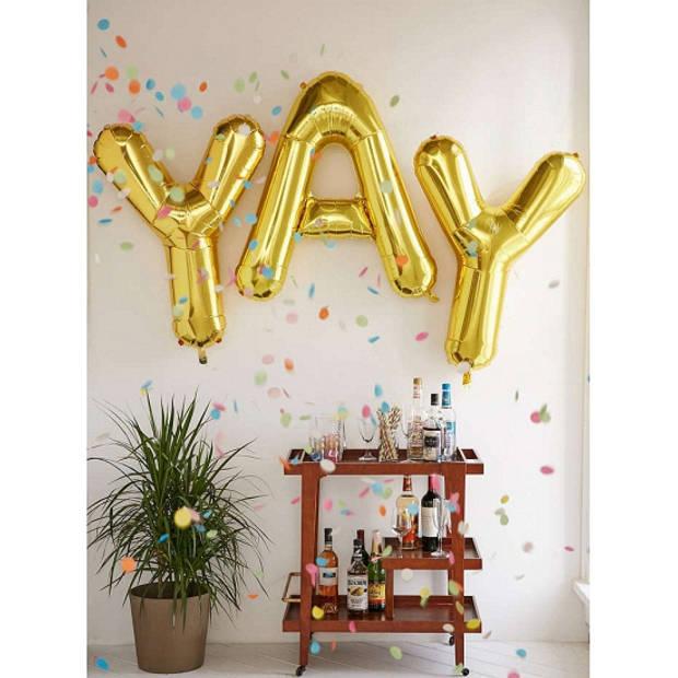 Letter U ballon goud 86 cm