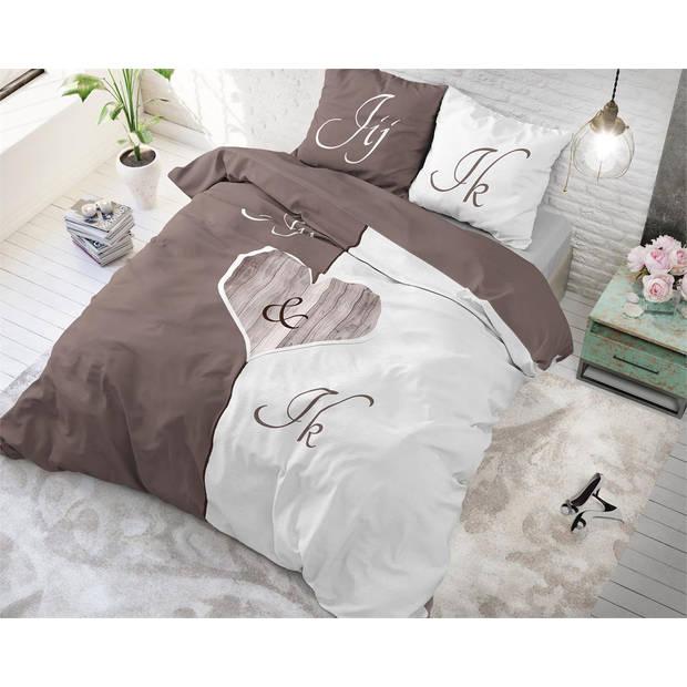 Sleeptime DBO DH PURE Jij en Ik Taupe 240x220