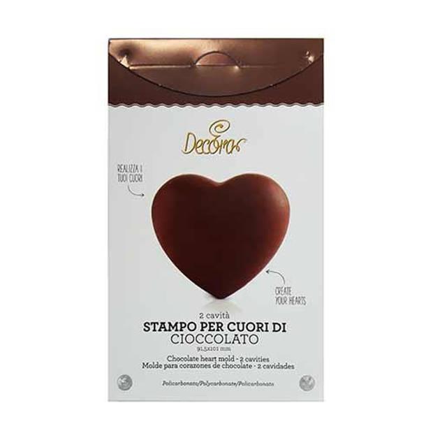 Chocolade mal hart 9 x 10 cm - Decora
