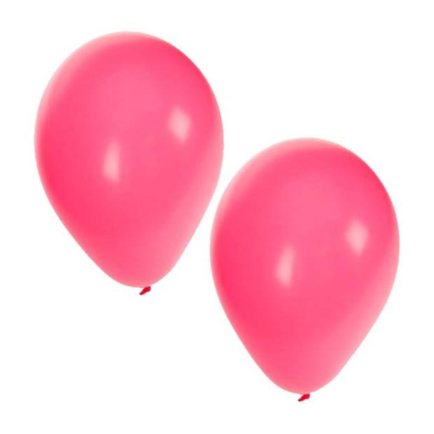 25x stuks roze party ballonnen - 27 cm - ballon voor helium en lucht - verjaardag/feestartikelen/versiering
