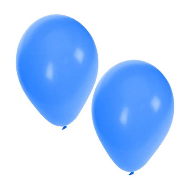 25x stuks Blauwe party ballonnen - 27 cm - ballon blauw voor helium of lucht - Feestartikelen/versiering