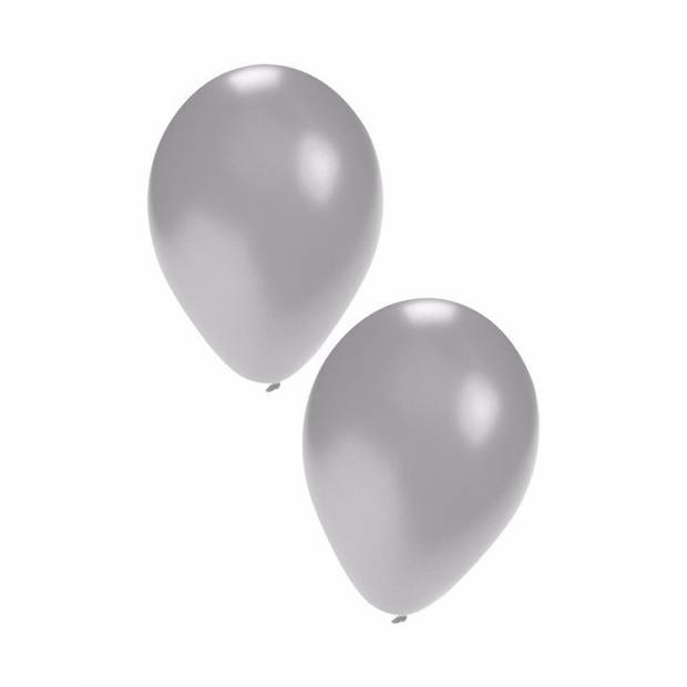25 Zilveren ballonnen
