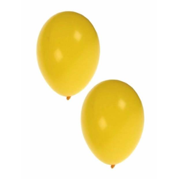 25x stuks gele party verjaardag ballonnen - 27 cm - ballon geel voor helium of lucht - Feestartikelen/versiering