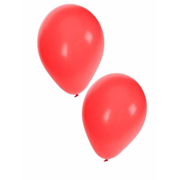 25x stuks rode party verjaardag ballonnen - 27 cm - ballon rood voor helium of lucht - Feestartikelen/versiering