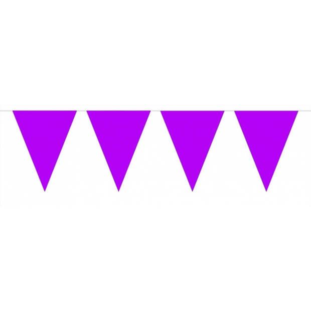 Pakket 3x vlaggenlijn XL paars incl gratis ballonnen