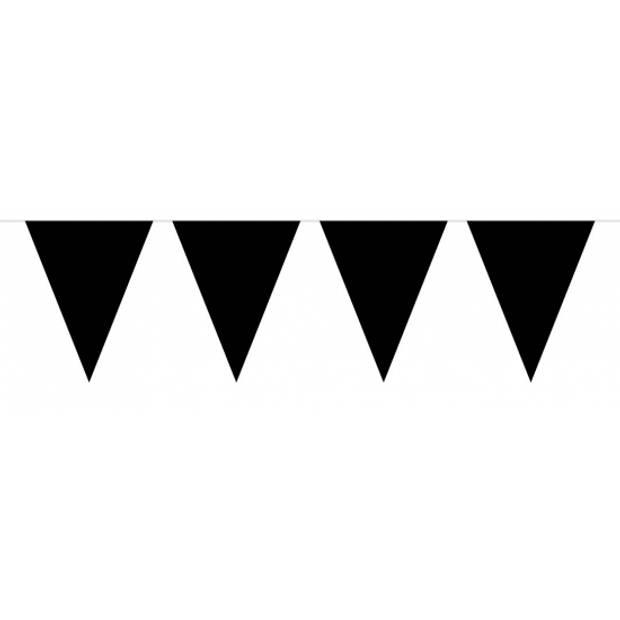 Pakket 3x vlaggenlijn XL zwart incl gratis ballonnen