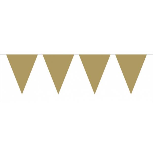 Pakket 3x vlaggenlijn XL goud incl gratis ballonnen