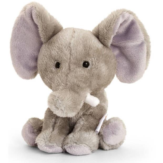 Keel Toys pluche olifant knuffel 14 cm - Dieren speelgoed olifanten knuffels