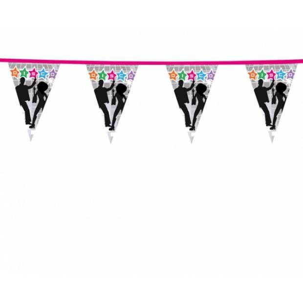 3x Disco vlaggenlijn 6 meter