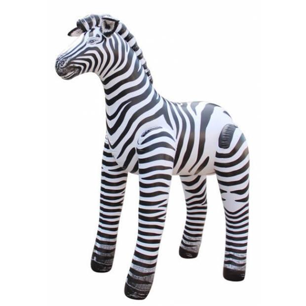 Opblaasbare zebra 81 cm