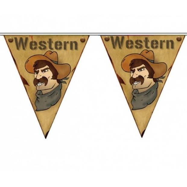 3x Vlaggenlijn Western 5 meter