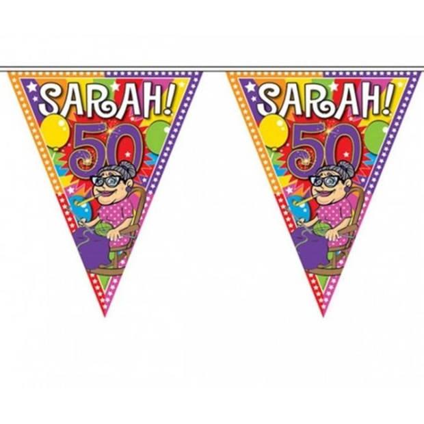 3x Sarah 50 jaar vlaggenlijn 10 meter