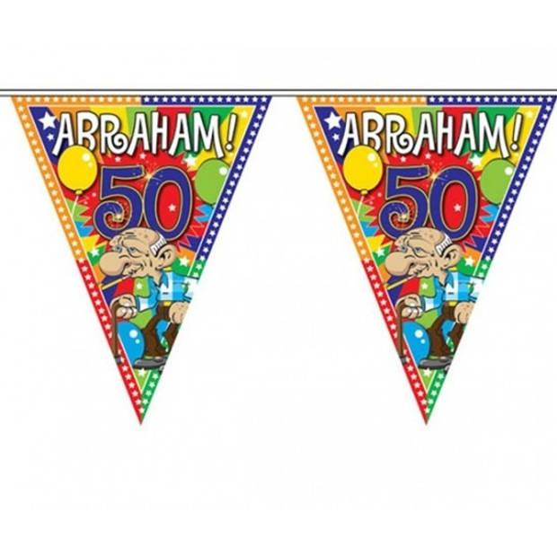 3x Abraham 50 jaar vlaggenlijn 10 meter