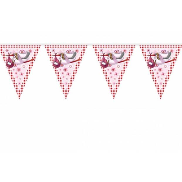 3x Vlaggenlijn geboorte meisje