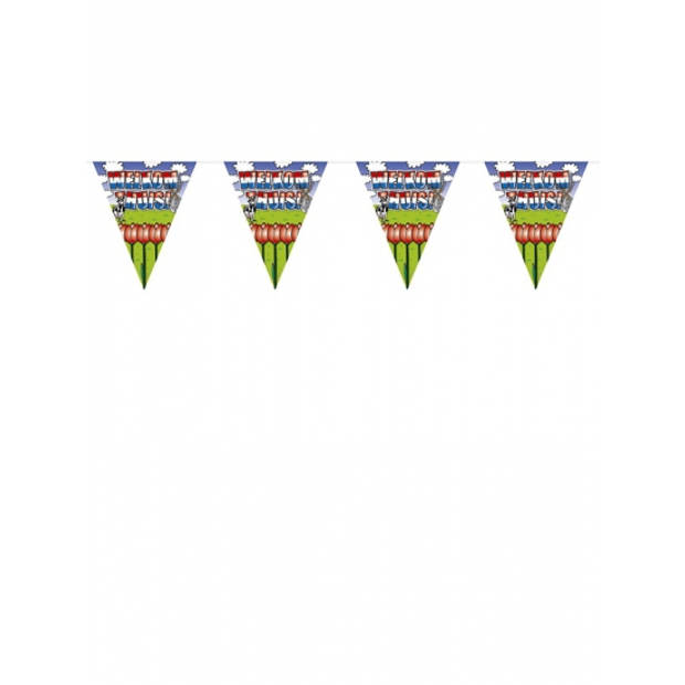 3x Vlaggenlijn / vlaggetjes welkom thuis thema