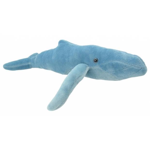 Pluche bultrug walvis knuffel 34 cm