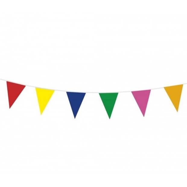 3x Vlaggenlijn gekleurd 10 meter