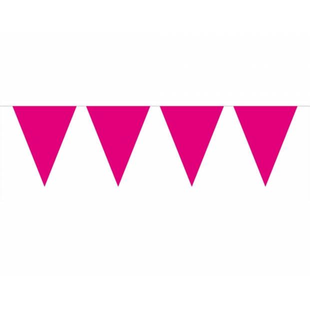 3x Vlaggenlijn magenta roze 10 meter