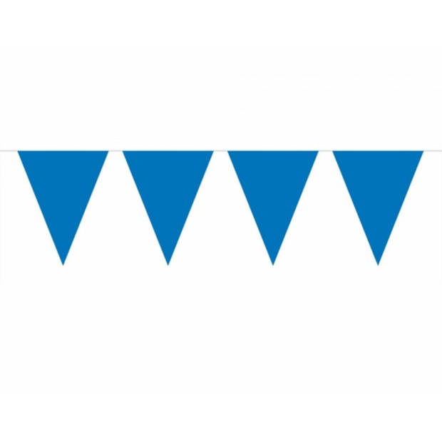 3x Vlaggenlijn blauw 10 meter