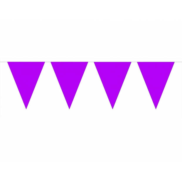 3x Vlaggenlijn paars 10 meter