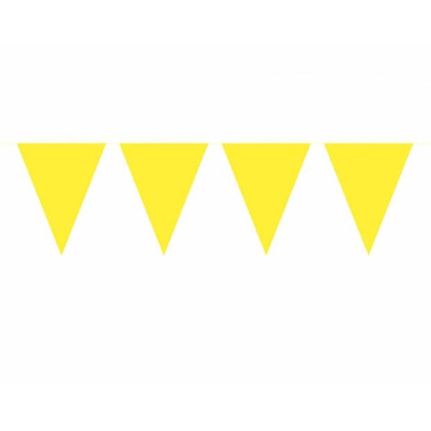 3x Vlaggenlijn geel 10 meter