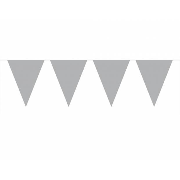 3x Vlaggenlijn zilver 10 meter