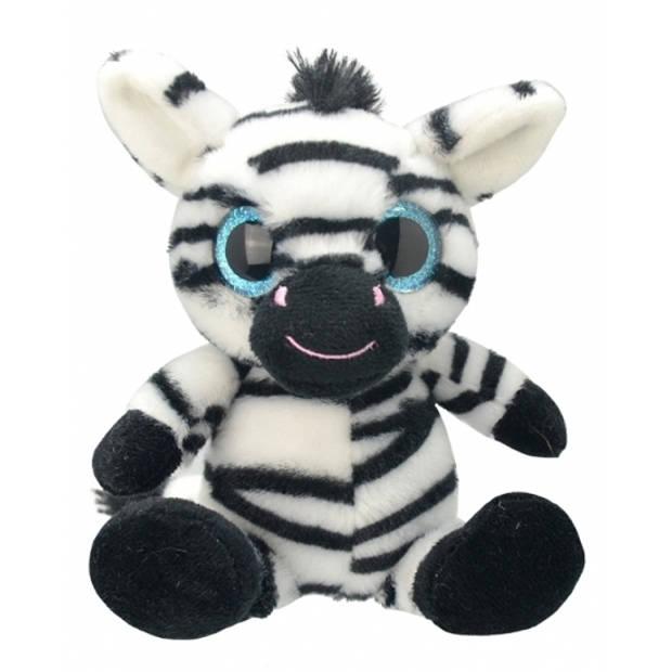 Pluche zebra knuffel 20 cm
