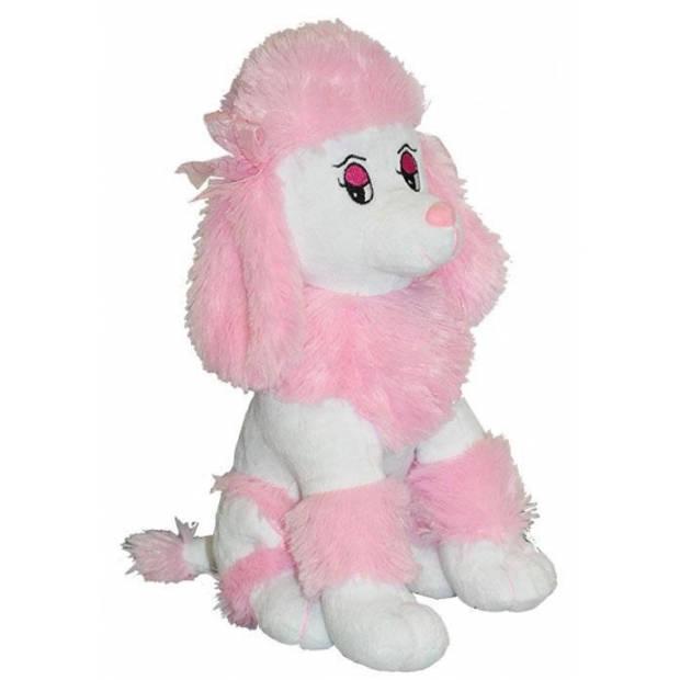 Pluche roze poedel knuffel 35 cm