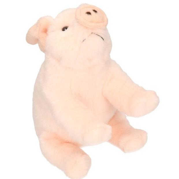 Pluche roze varken knuffel 22 cm