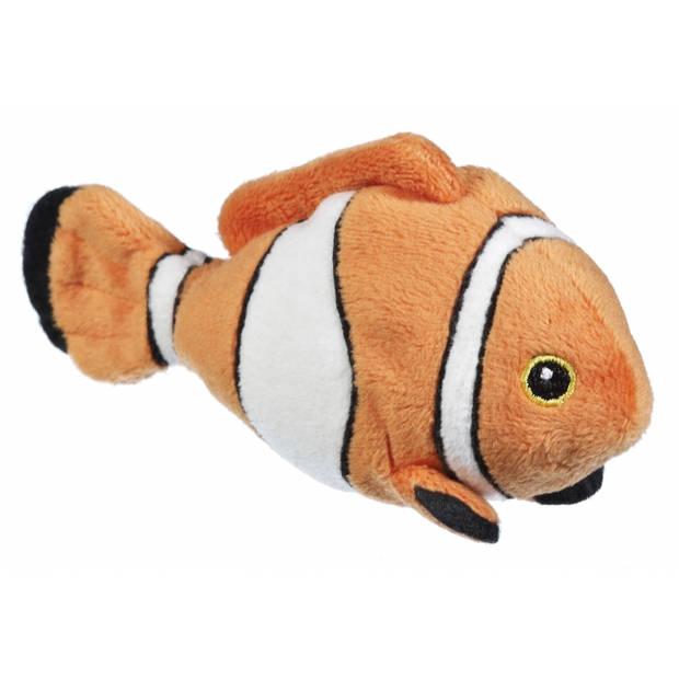 Knuffel clownvis oranje/wit 13 cm