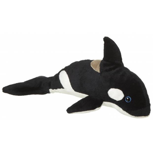 Pluche knuffel orka walvis van 25 cm - Orka speelgoed knuffels artikelen.