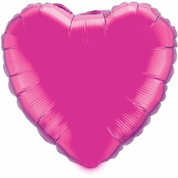 Folie ballon hart fuchsia 52 cm