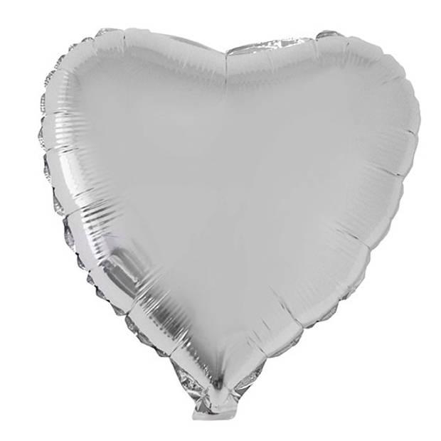 Folie ballon hart zilver 52 cm