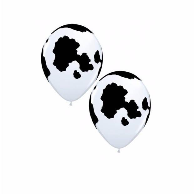12 koeien print ballonnen 28 cm