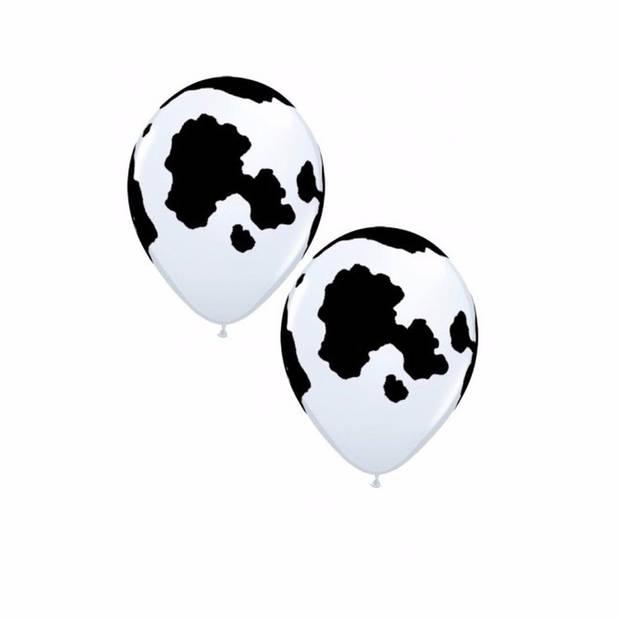 6 koeien print ballonnen 28 cm