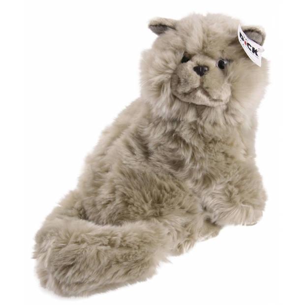 Pluche perzische kat knuffel grijs 30 cm - Knuffeldieren