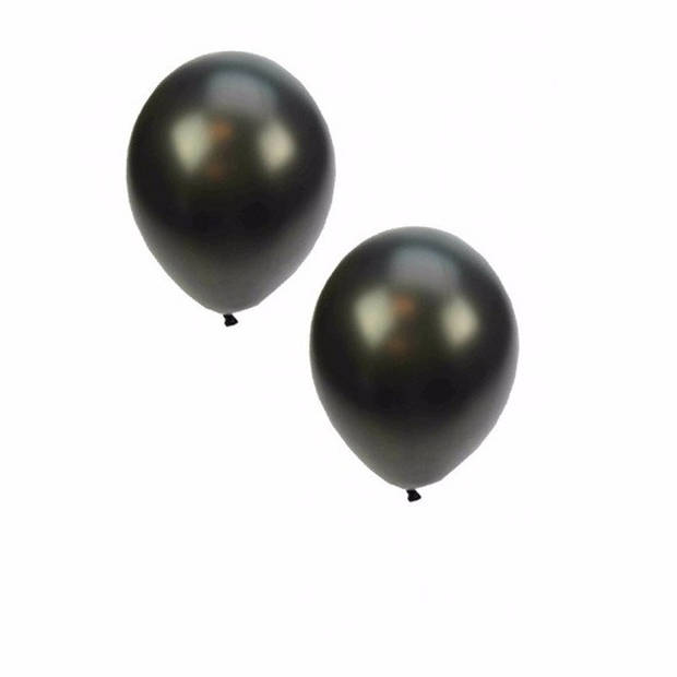 Metallic zwarte ballonnen 36 cm