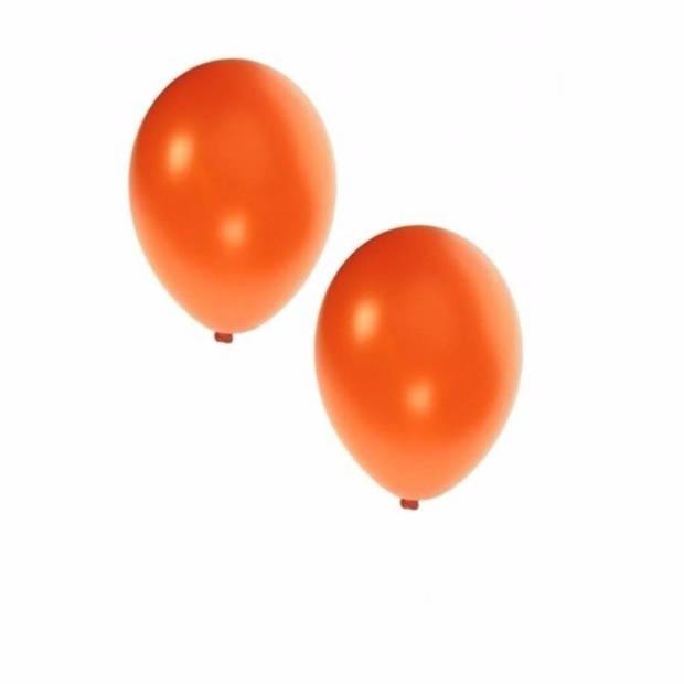 50x stuks metallic oranje ballonnen 36 cm - Supporters/koningsdag feestartikelen/versieringen