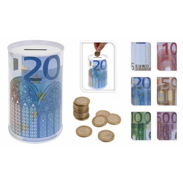 20 eurobiljet spaarpot 13 cm