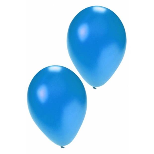 Metallic blauw ballonnen 36 cm