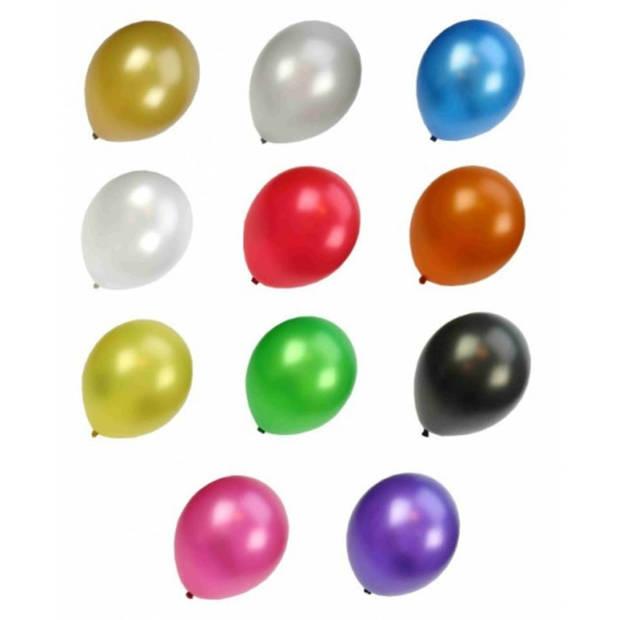 Metallic ballonnen kleuren 50 stuks