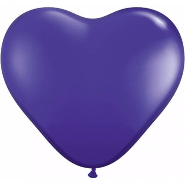 Hartjes ballonnen paars 25 stuks
