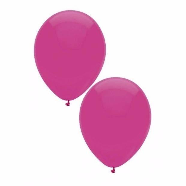Donkerroze ballonnen 15 stuks